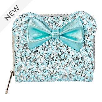 Loungefly Minnie Mouse Aqua Arendelle Sequin Wallet