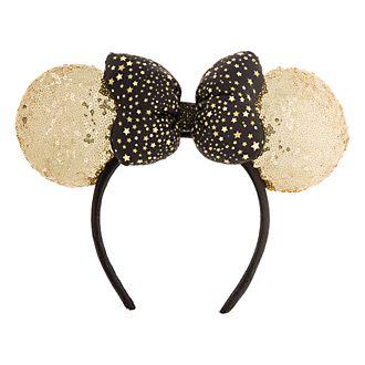 Disneyland Paris Serre-tête oreilles à sequins dorés de Minnie Mouse