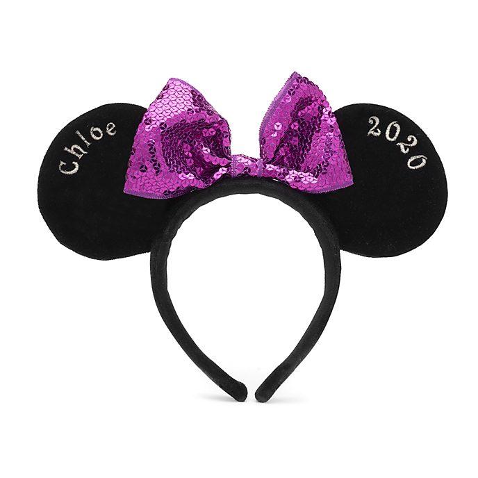 Disneyland Paris Serre-tête oreilles de Minnie personnalisable pour adultes