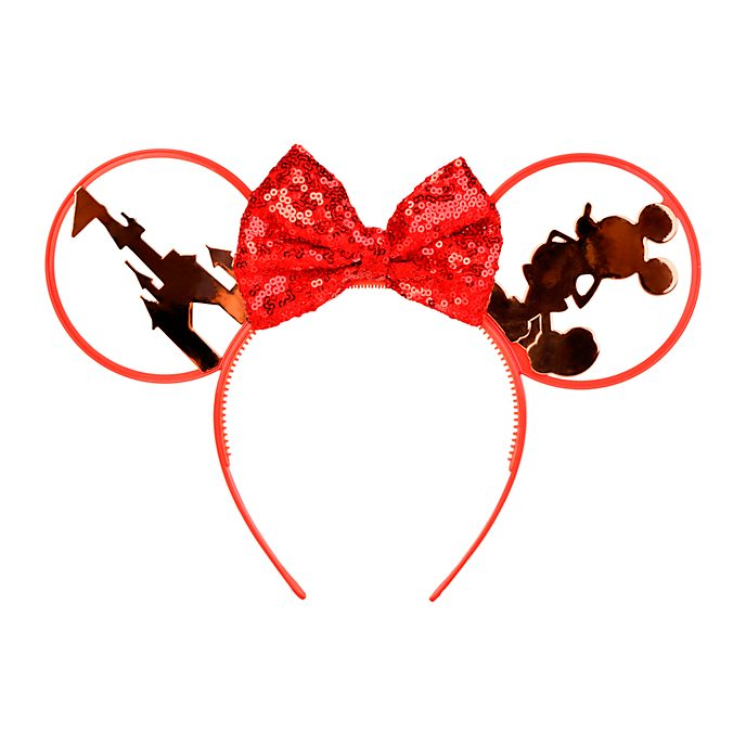 Disneyland Paris Minnie Mouse Red Ears Headband for Adults