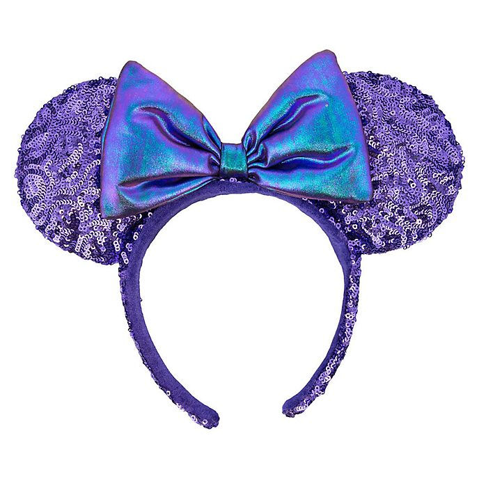 Disneyland Paris Minnie Mouse Purple Ears Headband For Adults