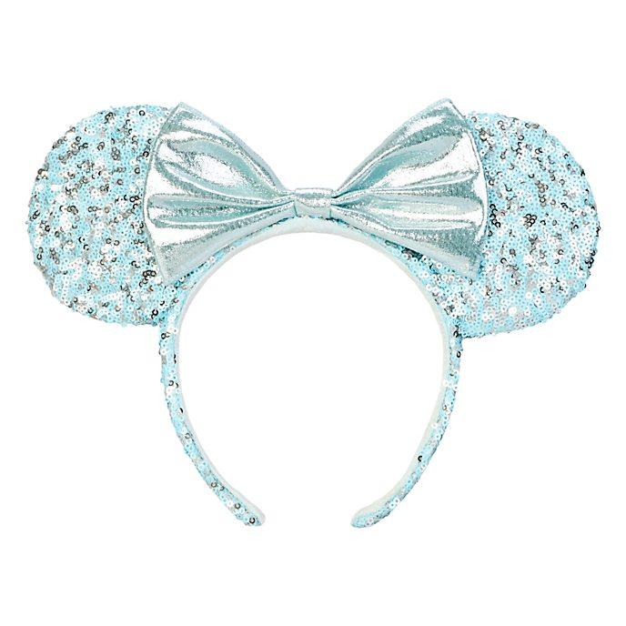 Disneyland Paris Serre-tête oreilles de Minnie Aqua Arendelle pour adultes
