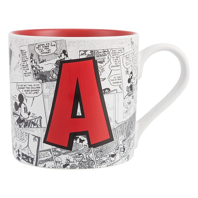 Disneyland Paris Mickey Mouse Vintage Artwork Mug - Letter A