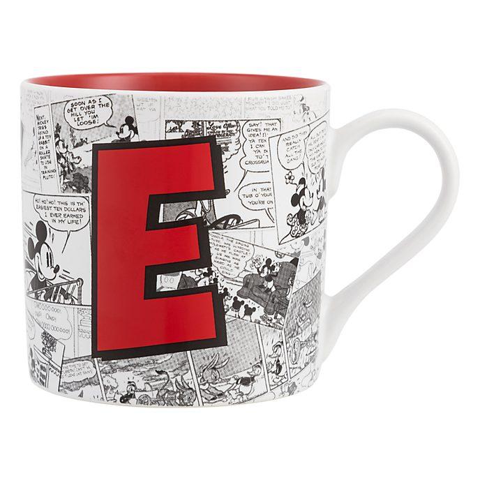Disneyland Paris Mickey Mouse Vintage Artwork Mug - Letter E