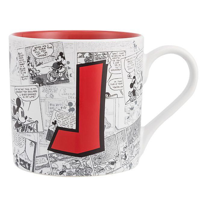 Disneyland Paris Mickey Mouse Vintage Artwork Mug - Letter J