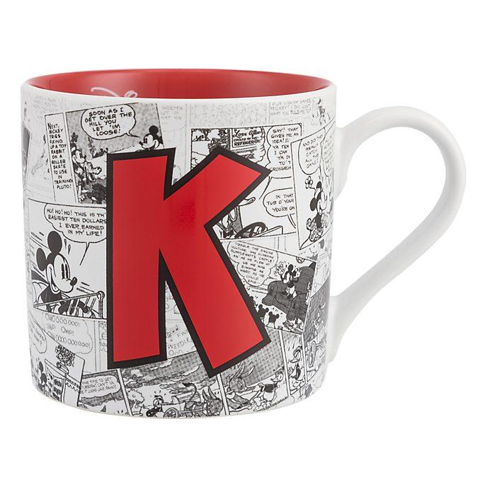 Disneyland Paris Mickey Mouse Vintage Artwork Mug - Letter K