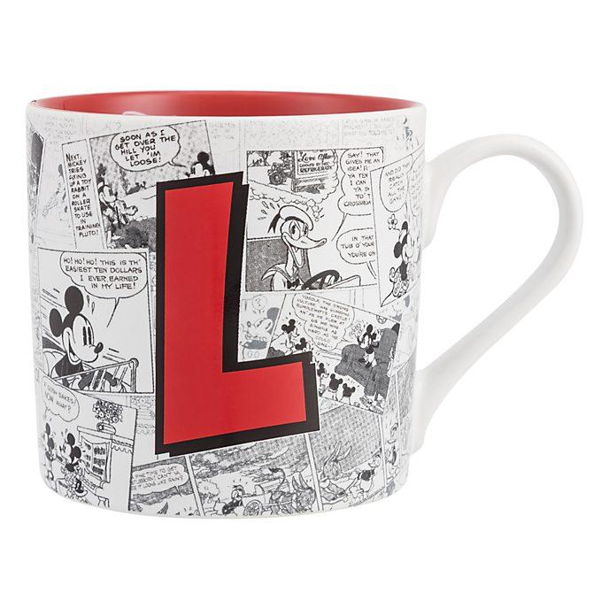 Disneyland Paris Mickey Mouse Vintage Artwork Mug - Letter L