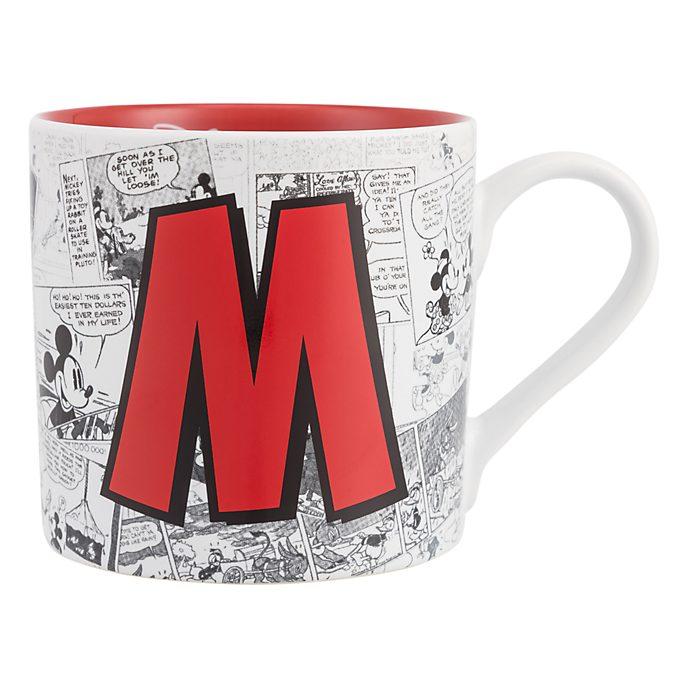 Disneyland Paris Mickey Mouse Vintage Artwork Mug - Letter M
