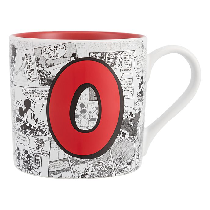 Disneyland Paris Mickey Mouse Vintage Artwork Mug - Letter O
