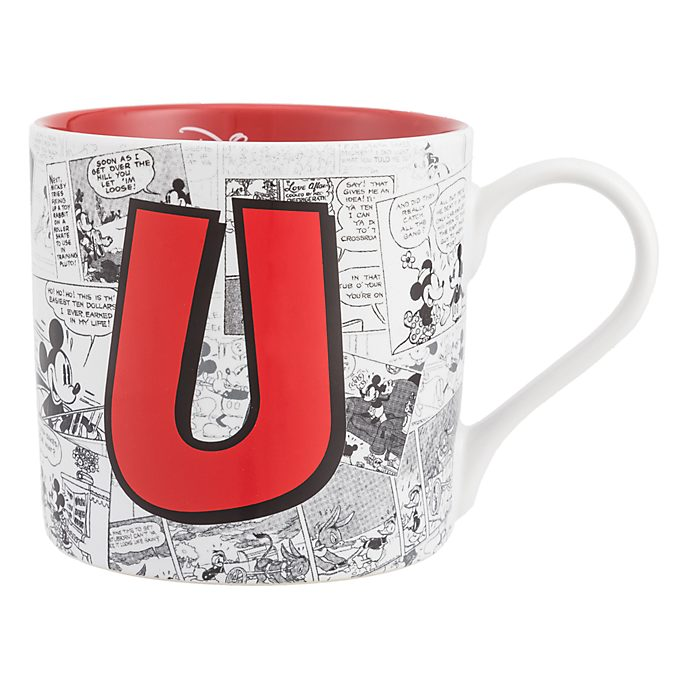Disneyland Paris Mickey Mouse Vintage Artwork Mug - Letter U