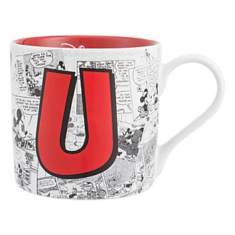 Disneyland Paris Mickey Mouse Vintage Artwork Mug - Letter U