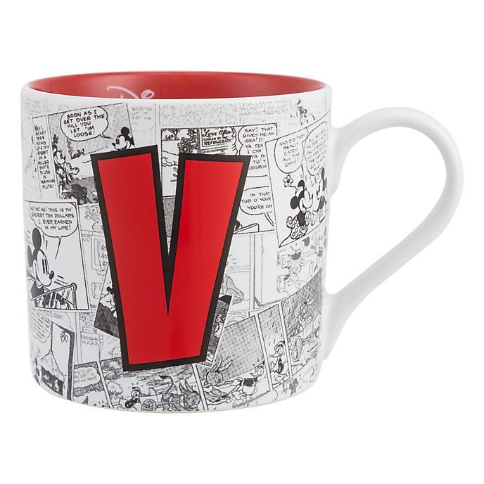 Mug Alphabet Lettre V Disneyland Paris