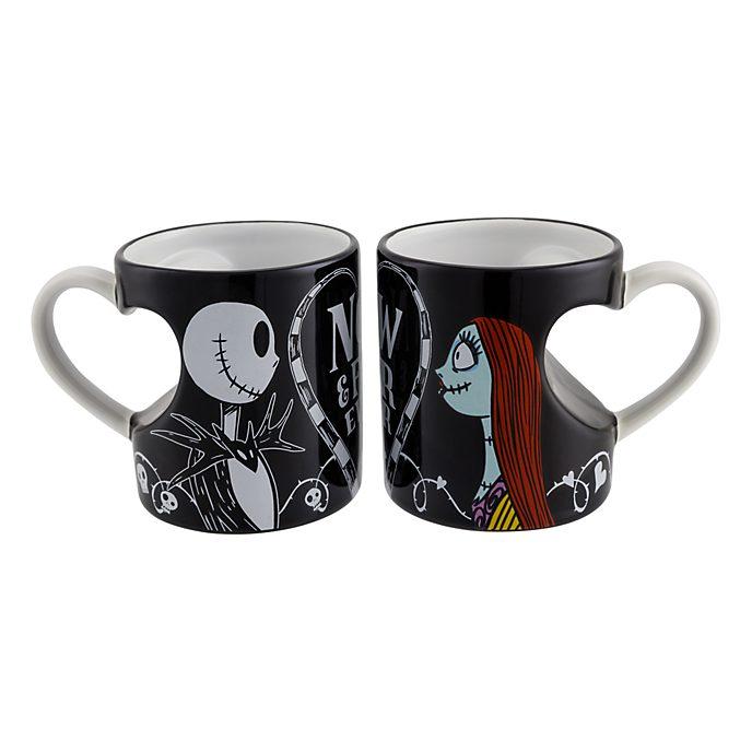 Disneyland Paris Lot de 2 mugs Jack et Sally pour les amoureux
