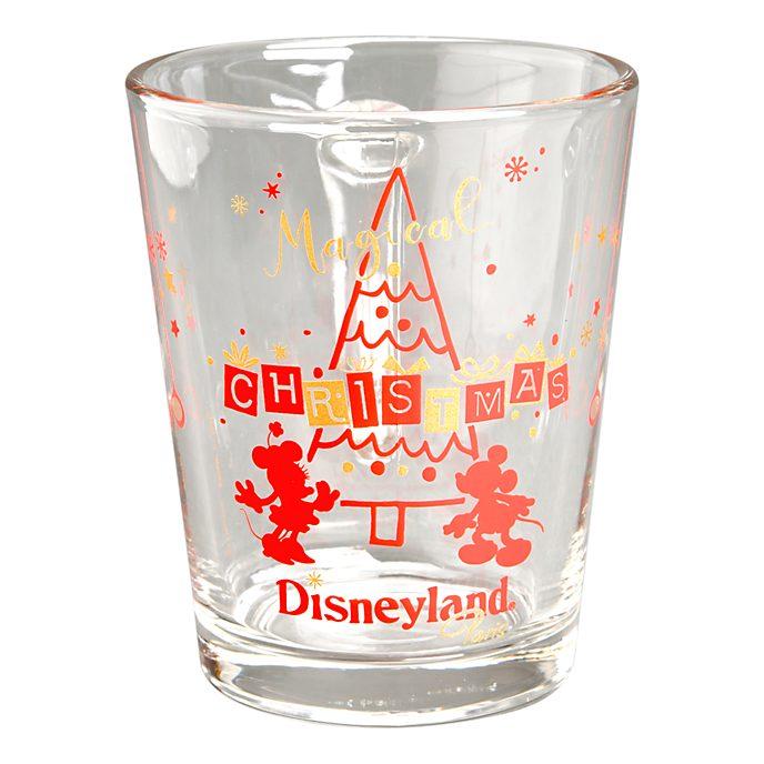 Disneyland Paris Mug en verre de Noël Mickey et Minnie