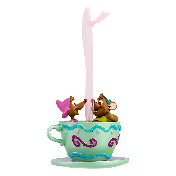 Disneyland Paris Gus and Suzy Tea Cup Hanging Ornament