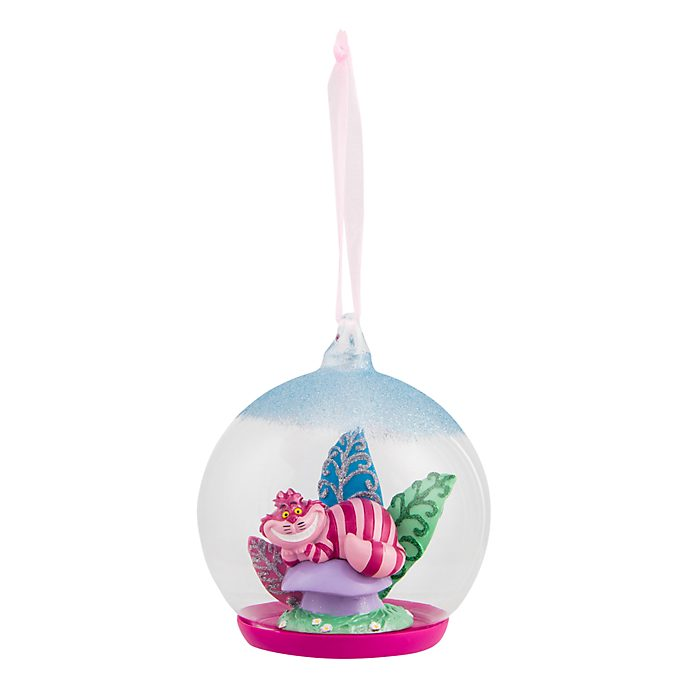 Disneyland Paris Cheshire Cat Glass Globe Bauble