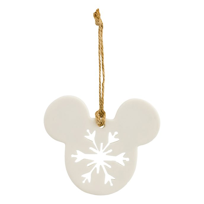 Disneyland Paris Mickey Mouse Icon Snowflake Porcelain Ornament