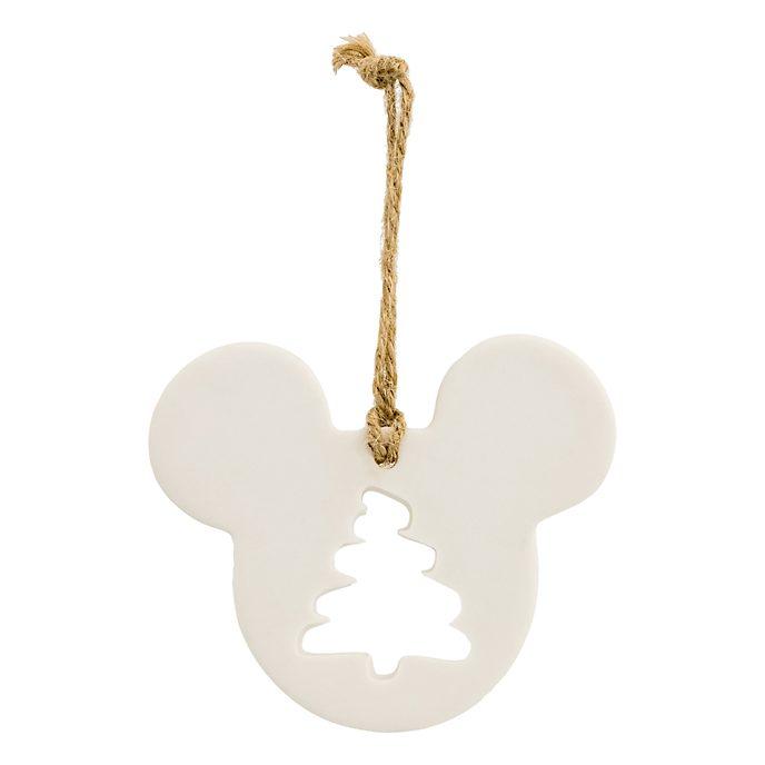 Disneyland Paris Décoration Sapin de Noël façon tête de Mickey Mouse en porcelaine