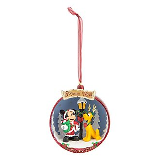 Disneyland Paris Mickey Mouse & Pluto Hanging Ornament