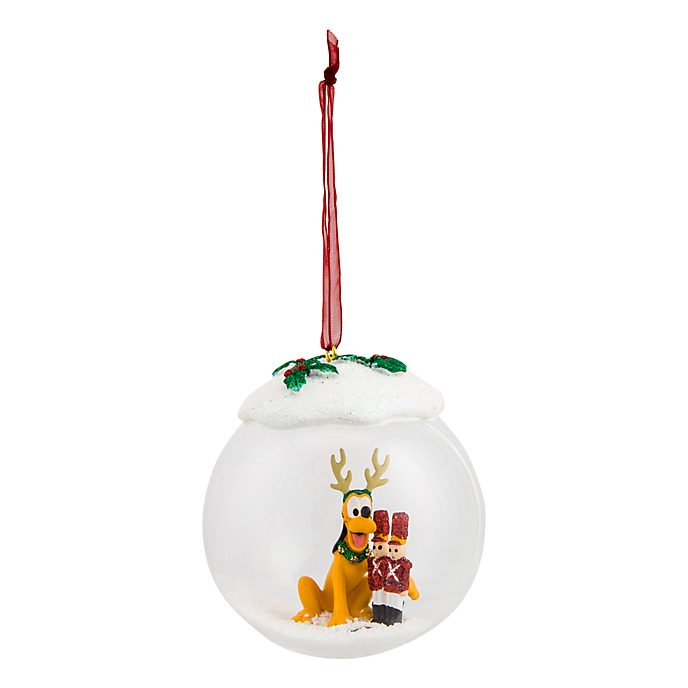 Disneyland Paris Pluto & Tin Soldiers Glass Christmas Bauble