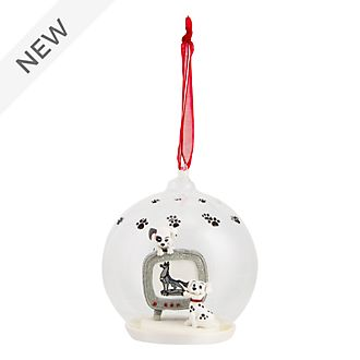 Disneyland Paris 101 Dalmatians Glass Globe Hanging Ornament