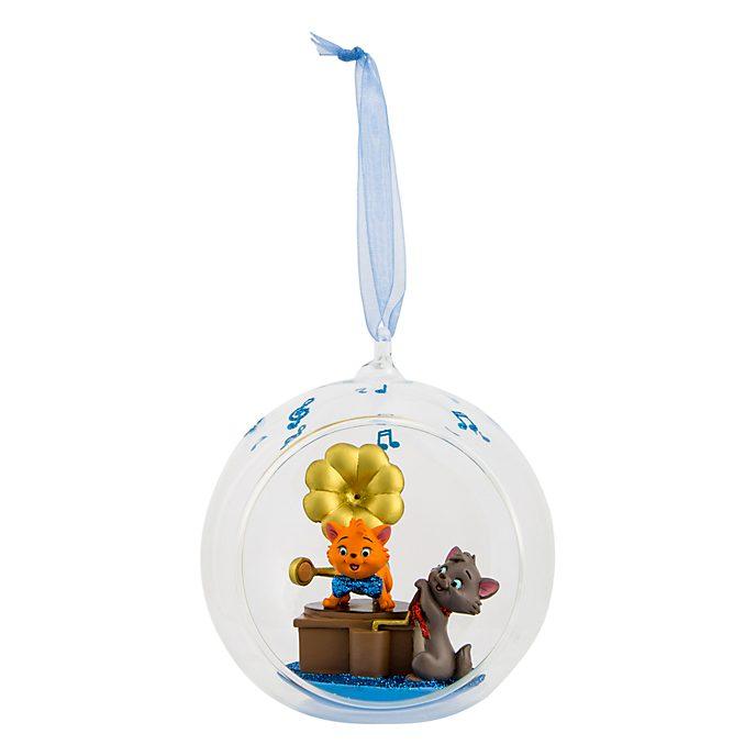 Disneyland Paris The Aristocats Glass Globe Hanging Ornament