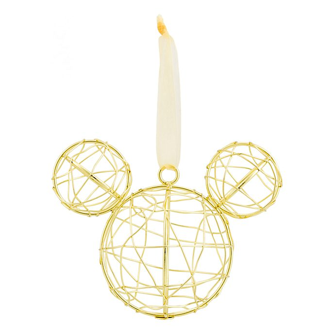 Disneyland Paris Mickey Mouse Icon Wire Mesh Ornament