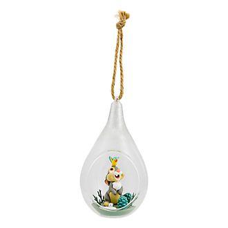 Boule de Noël en verre Pan-Pan Disneyland Paris