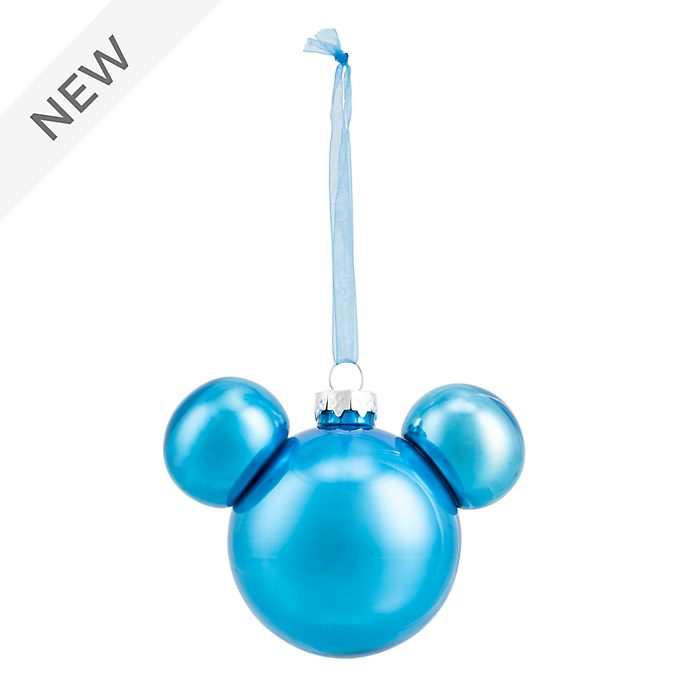 Disneyland Paris Mickey Mouse Blue Icon Hanging Ornament