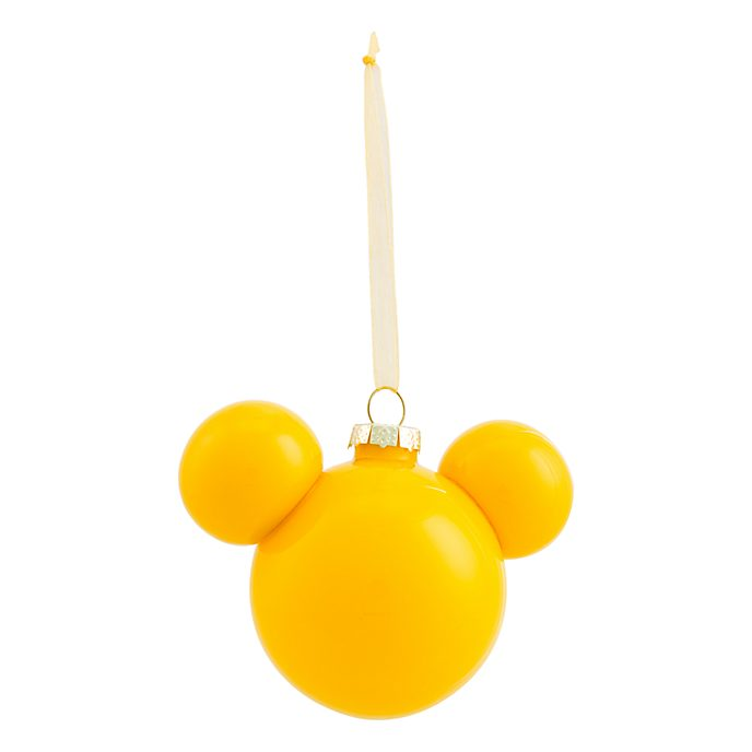 Disneyland Paris Mickey Mouse Yellow Icon Hanging Ornament