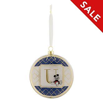 Disneyland Paris Hanging Ornament - Letter U