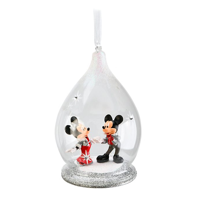 Disneyland Paris Mickey and Minnie Limited Edition Hanging Ornament