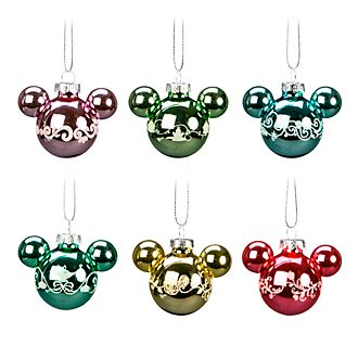 Disneyland Paris Mickey Mouse Icon Hanging Ornaments, Set of 6