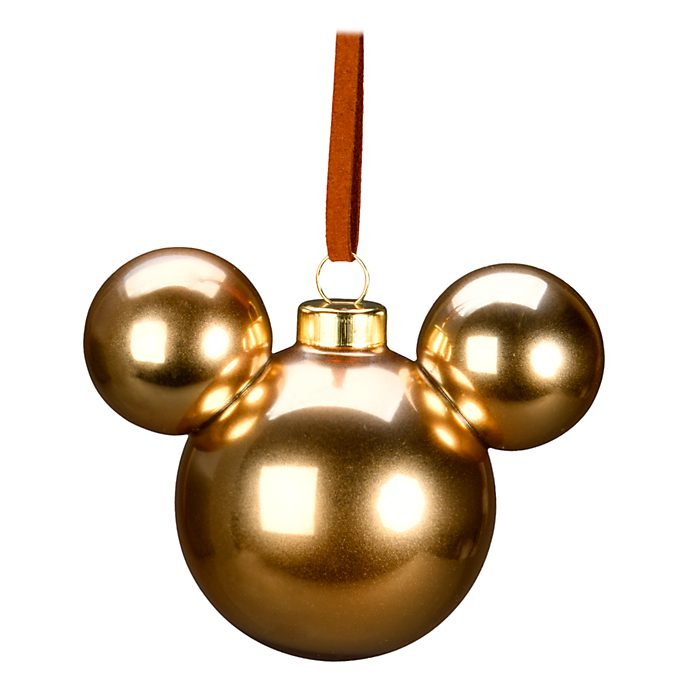 Disneyland Paris Mickey Mouse Gold Icon Hanging Ornament