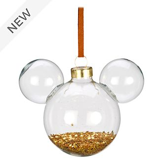 Disneyland Paris Mickey Mouse Glass and Glitter Icon Hanging Ornament