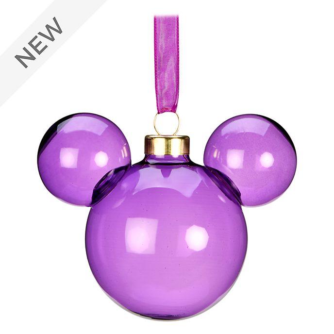 Disneyland Paris Mickey Mouse Purple Metal Icon Hanging Ornament