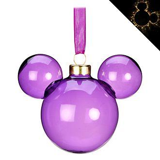 Disneyland Paris Boule Tête de Mickey en métal violette