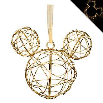 Disneyland Paris Mickey Mouse Golden Metal Hanging Ornament