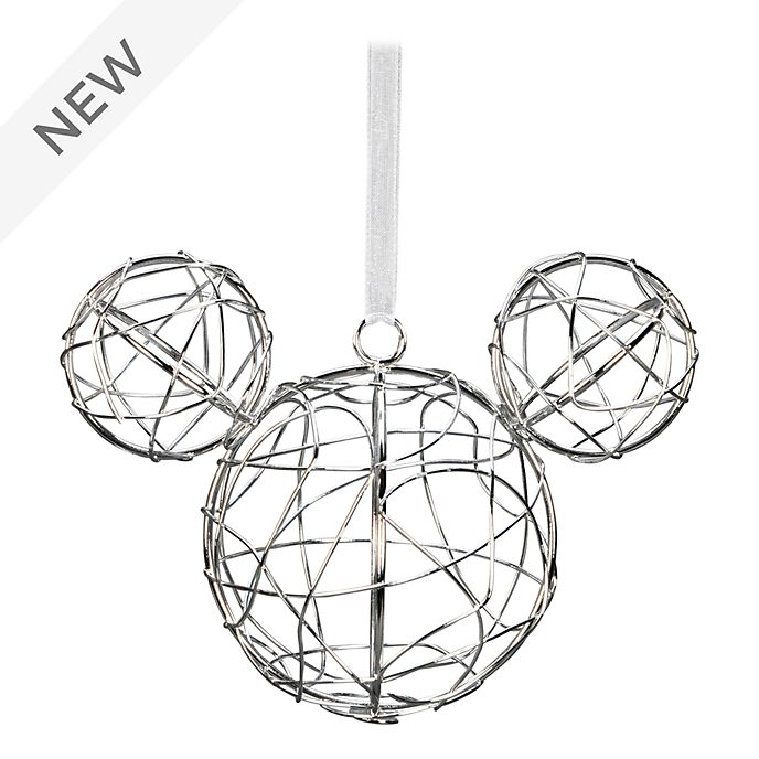 Disneyland Paris Mickey Mouse Silver Metal Hanging Ornament