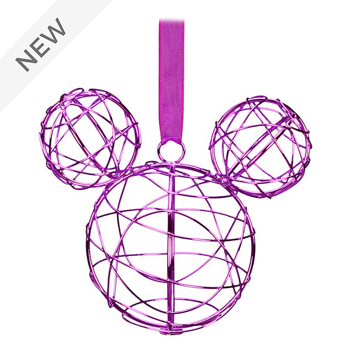 Disneyland Paris Mickey Mouse Purple Metal Hanging Ornament