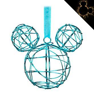 Disneyland Paris Mickey Mouse Blue Metal Hanging Ornament