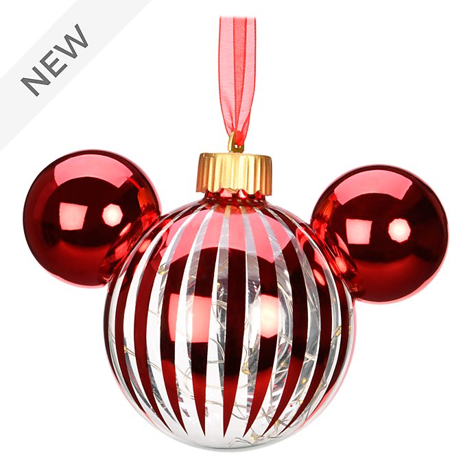 Disneyland Paris Mickey Mouse Red Icon Light-Up Hanging Ornament