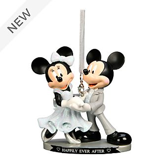 Disneyland Paris Mickey and Minnie Happily Ever After Hanging Ornament