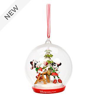 Disneyland Paris Mickey & Minnie Light Up Tree Hanging Ornament