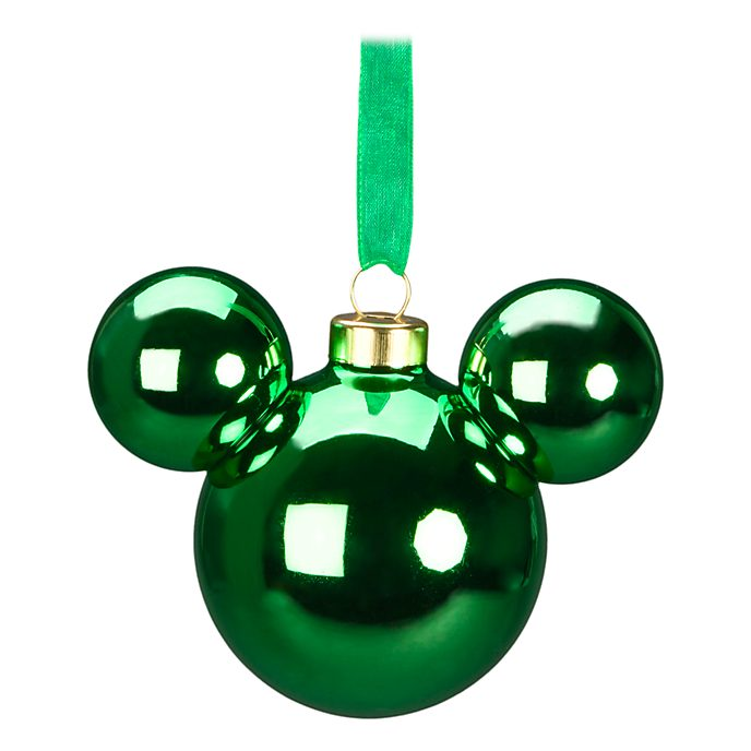 Disneyland Paris Mickey Mouse Green Icon Hanging Ornament