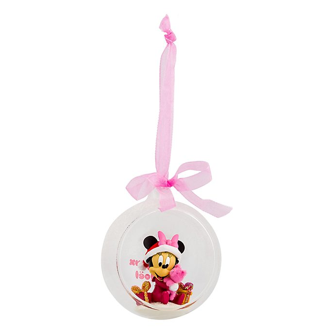 Disneyland Paris Minnie Mouse Christmas Bauble for Baby