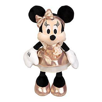 Disneyland Paris Peluche moyenne Minnie Mouse rose doré