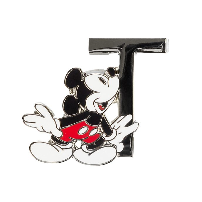 Disneyland Paris Mickey Mouse 'T' Letter Pin