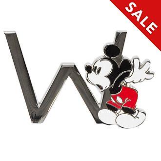 Disneyland Paris Mickey Mouse 'W' Letter Pin