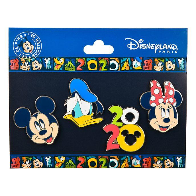 Disneyland Paris Mickey and Friends 2020 Pin Set